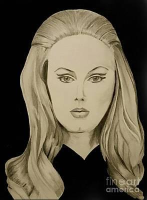 Famous Women Singers Drawing - Adele  by Eman Elmahdy