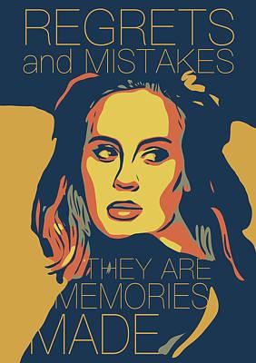Adele Digital Art - Adele by Greatom London