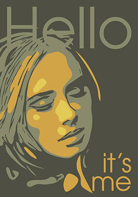 Adele Wall Art - Digital Art - Adele by Greatom London