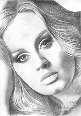 Drawing - Adele by Karen Townsend