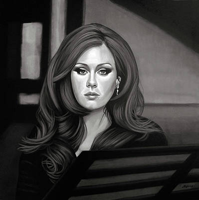 Concert Painting - Adele Mixed Media by Paul Meijering