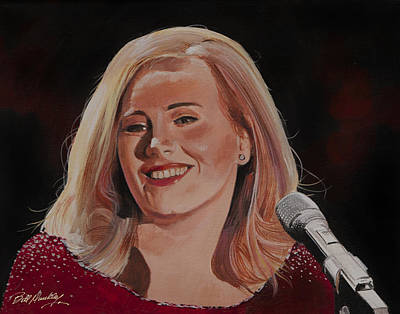 Adele Portrait Original by Bill Dunkley