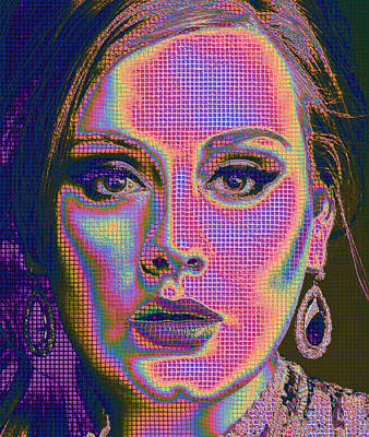 Adele Digital Art - Adele Portrait Hello 2 by Yury Malkov