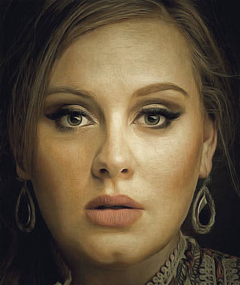 Adele Digital Art - Adele Portrait by Yury Malkov