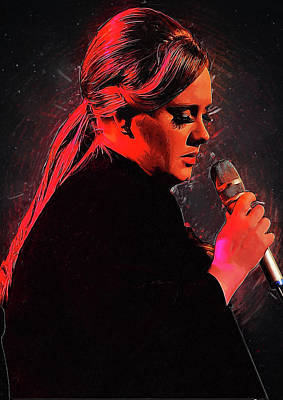 Adele Digital Art - Adele by Semih Yurdabak