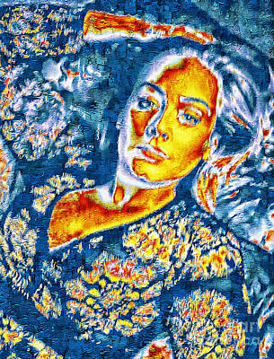 Painting - Adele Singer Songwriter  by Ian Gledhill