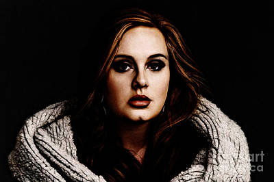 Adele Wall Art - Digital Art - Adele by The DigArtisT