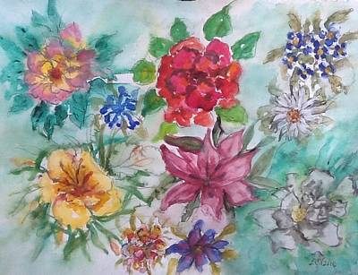 Painting - Adele's Garden by Lucille Valentino