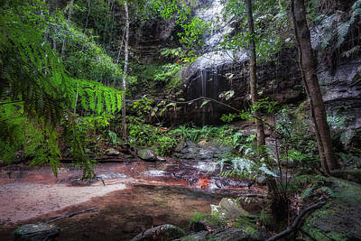 Photograph - Adelina Falls At South Lawson Waterfall Circular Walking Track by Daniela Constantinescu