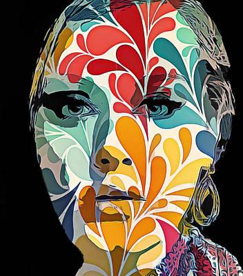 Concert Digital Art - Adelle In Flowers by Yury Malkov