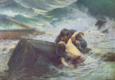 Wreck Painting - Adieu by Alfred Guillou