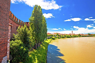 Photograph - Adige River And Verona Riverfront View From Castelvecchio Bridge by Brch Photography