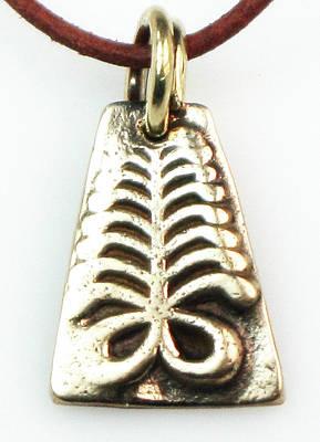Esprit Mystique Jewelry - Adinkra Symbolic Pendant - Endurance by Witches Hammer - Virginia Vivier
