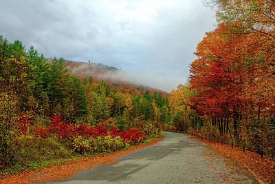 Jolly Old Saint Nick - Adirondack Autumn Road by Tony Beaver