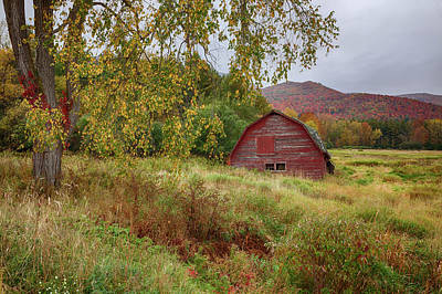 Adirondack Barn In Autumn Art Print