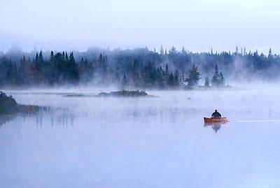 Adirondack Canoeing  Print by Tony Beaver