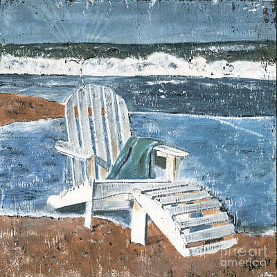 Signed . Nature Painting - Adirondack Chair by Debbie DeWitt
