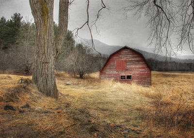 Red Barns Photograph - Adirondack Country by Lori Deiter
