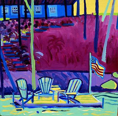 Painting - Adirondack Float Long Sought For Pond Westford Ma by Debra Bretton Robinson