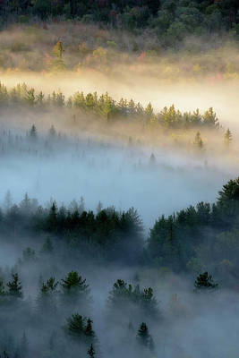 Photograph - Adirondack Fog by Brad Wenskoski