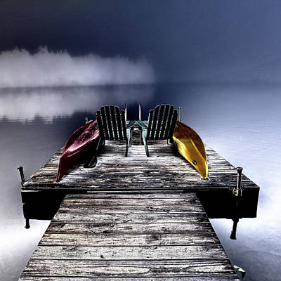 Urban Abstracts Royalty Free Images - Adirondack Fog Royalty-Free Image by David Patterson