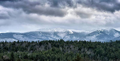 Art Print featuring the photograph Adirondack High Peaks During Winter - New York by Brendan Reals