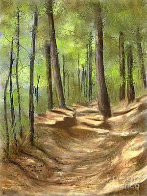 Painting - Adirondack Hiking Trails by Judy Filarecki