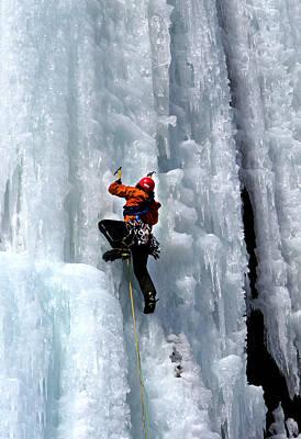 Photograph - Adirondack Ice Climber  by Brendan Reals