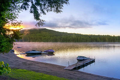 Photograph - Adirondack Lake Sunrise by Christina Rollo
