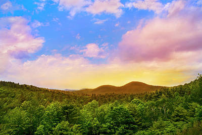 Photograph - Adirondack Mountain Sunset by Christina Rollo