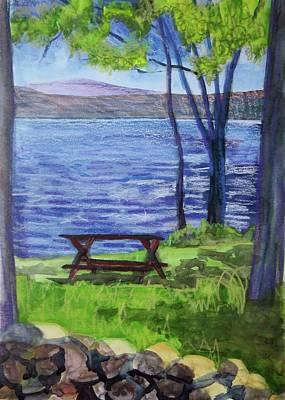 Bethany Lee Painting - Adirondack Picnic Spot by Bethany Lee