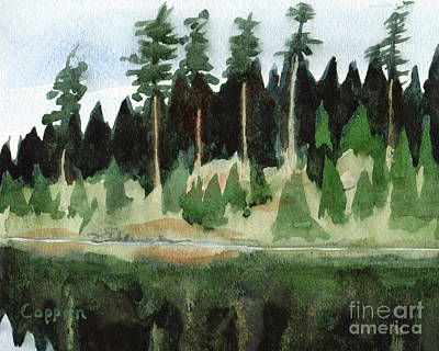 Painting - Adirondack Pond by Robert Coppen