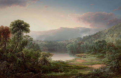 William Sonntag Painting - Adirondack Pond by MotionAge Designs