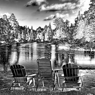Digital Art - Adirondack Reflections by David Patterson