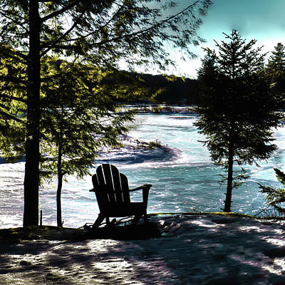Photograph - Adirondack Silhouette by David Patterson