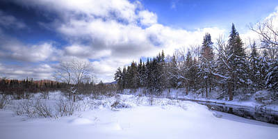 Photograph - Adirondack Snowscape by David Patterson