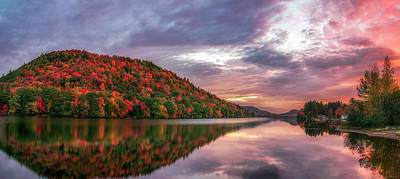 Photograph - Adirondack Sunrise by Mark Papke