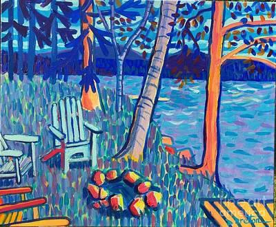 Painting - Adirondacks At Rangeley Lake by Debra Bretton Robinson