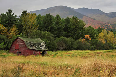 Barn In Woods Photograph - Adirondacks Barn In Autumn by Terry DeLuco