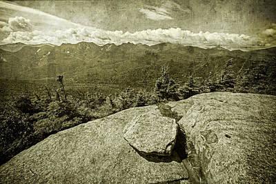 Photograph - Adirondacks Big Slide Peak Vintage Treated Keene Valley Ny by Toby McGuire
