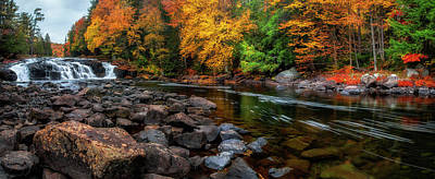 Waterfall Photograph - Adirondacks Buttermilk Falls by Mark Papke