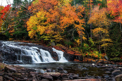 Photograph - Adirondacks Waterfall by Mark Papke