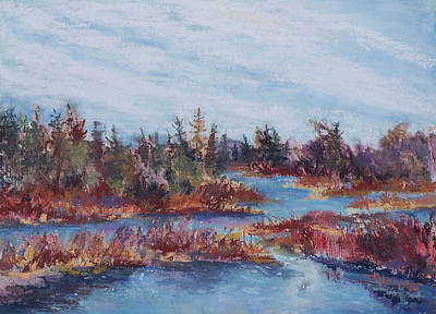 Adirondak Concerto Art Print by Alicia Drakiotes