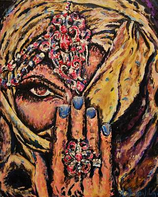 Covered Head Painting - Adivina by Andres A Garcia-Velez