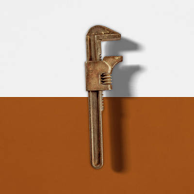 Photograph - Adjustable Wrench Back On Color Paper by YoPedro