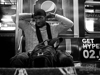 Photograph - Adjustment - Subways Of New York by Miriam Danar