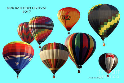 Photograph - Adk Balloon Festival 2017 by Diane E Berry