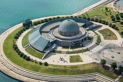 Photograph - Adler Planetarium Aerial by Adam Romanowicz