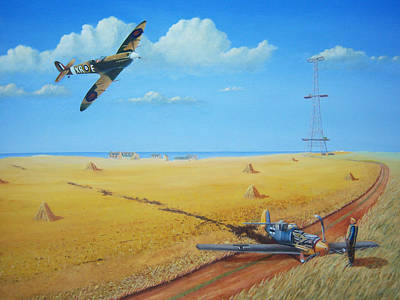 Radar Painting - Adler Tag - Eagle Day by Terry Thacker