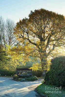 Photograph - Adlestrop In Autumn Sunlight by Tim Gainey